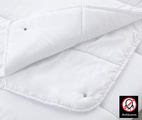 COTTON ART Edredon Nórdico Anti Acaros Fibra 4 Estaciones Duo (125 + 250 gr/m²) Cama de 150