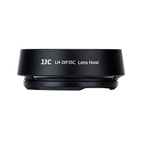 JJC Dedicated Metal Lens Hood Shade for Fuji Fujifilm Fujinon XF 35mm F2 R WR Lens,Fujinon XF 23mm F2 R WR Lens,Fujinon XC 35mm F2 Lens,Bayonet Type Black Color,Replaces Fujifilm LH-XF35-2 Lens Hood