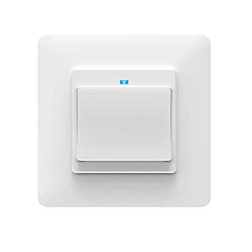 Moes WiFi DE Smart Push Button 1 Gang Schalter Frei entfernbar Abnehmbar von der Wandplatte Smart Home Automatisierung Smart Life Tuya App Fernbedienung Arbeiten mit Amazon Alexa Google Home