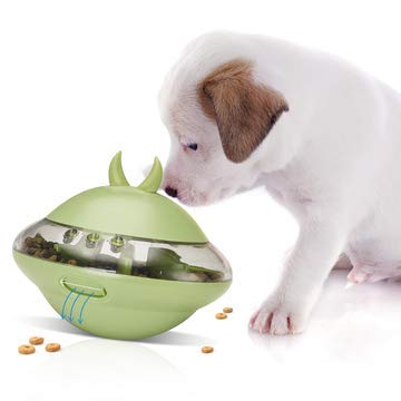 Dociote Futterball Snackball Hund intiligenz Hundespielzeug IQ Training Ball für Welpen kleine mittelgroße Hunde Katzen Grün