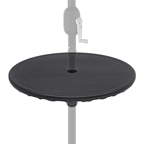 ABBLE 20'' Outdoor Adjustable All Weather Umbrella Table for Beach Patio Garden Poolside Accessory Umbrella Table Top Portable...