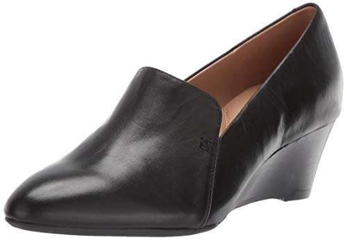 Aerosoles Women's Full Circle Pump, black leather, 9.5 M US