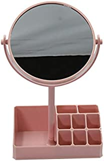 Mumuso Espejo Multifuncional con Caja DE Almacenamiento - Rosa