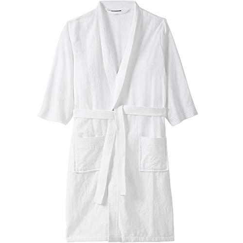 KingSize Men's Big & Tall Terry Velour Kimono Robe - Big-3XL/4X, White