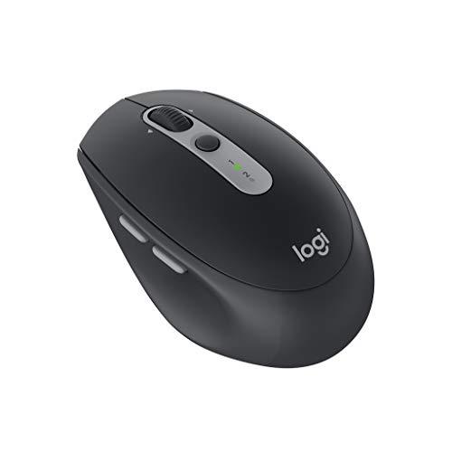 ロジクール ワイヤレスマウス 無線 静音 Bluetbooth Unifying 7ボタン M590GT グラファイトトーナル window...