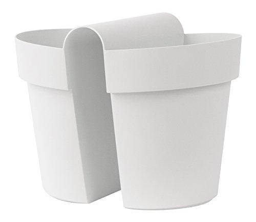 Euro 3 Plast Vaso Be-Up con Riserva Cm25-3032 Bianco, Plastica