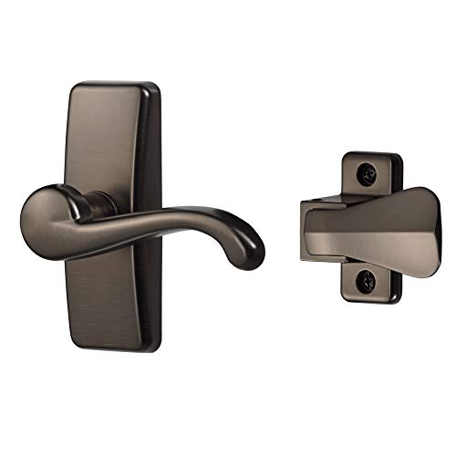 Ideal Security Inc. SKGLWORB GL Lever Set for Storm and Screen Doors Touch of Class, Easy to Install, 2-Piece, Oil Rubbed Bronze
