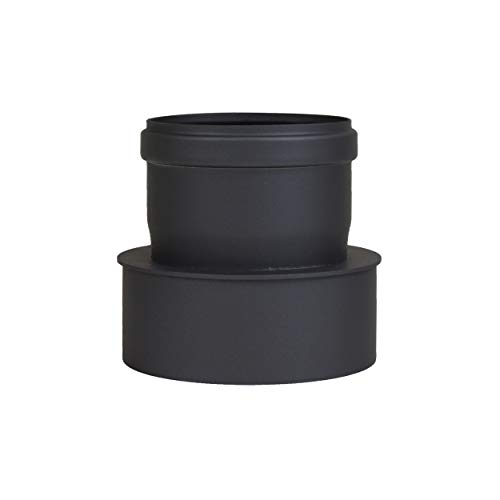 LANZZZAS Pellet Pellet rookpijp pelletkachel uitbreiding kleur zwart Ø 100 mm op Ø 130 mm