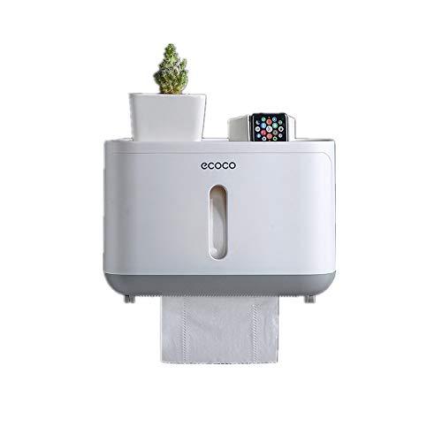 REOOHOUSE Dispensador de toallas de papel montado en la pared, rollos de papel multipliegue para el hogar y la oficina (gris-S)