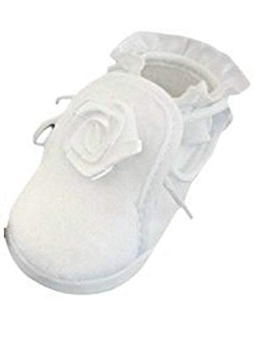 Seruna Festliche-r Baby-Schuh TP10 Gr. 17 Tauf-Schuhe weiß für Babies Junge-n und Mädchen zu Hochzeit-en