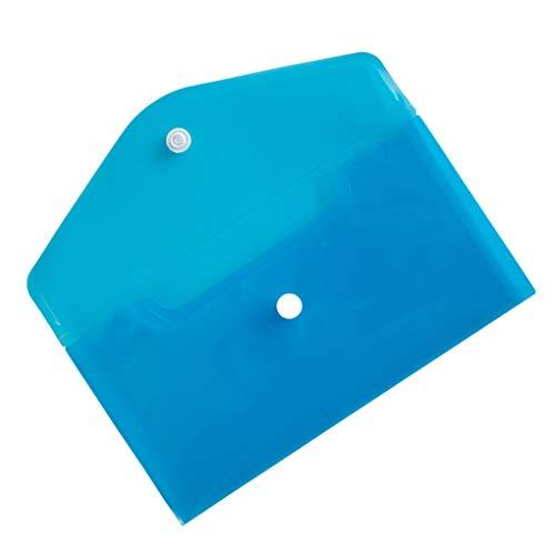 Weilifang Aufbewahrung PP-Beutel-Karten-Dateien Papierwaren Aufbewahrungsbeutel Bleistift-Radiergummi-Speicher-Organisator-Kasten-Beutel, Blau
