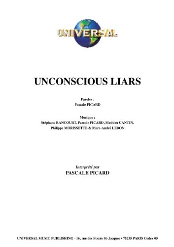 UNCONSCIOUS LIARS