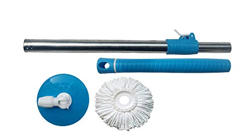 Bajrang Rapidora 360 Degree Mop Spin Cleaning Stainless Steel Rod Set with Refill, Blue