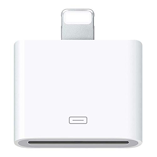 30 Pin Adapter | 8 Pin Male to 30 Pin Female | Works with Smartphones, Cars, Docking Stations and More White