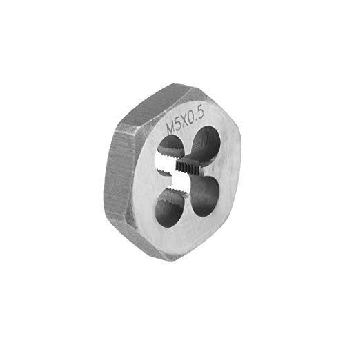 6g Hex Rethreading Die M6 X 0.5 Step Carbon Steel Metric Hexagon Taper Pipe Die Accuracy Grade