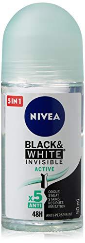 Nivea Black & White Invisible Active Roll-On Desodorante