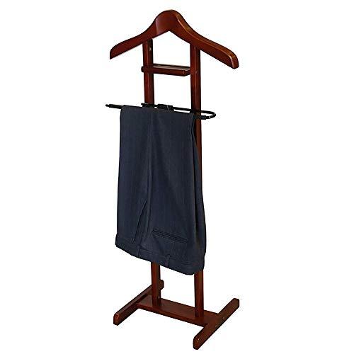 LOHOX Galán de Noche Mueble para Estantes y Zapateros Colgar Camisas Mueble Madera Maciza, Pantalones Baño Oficina Dormitorio para Hombre - 109 x 41 x 46 CM