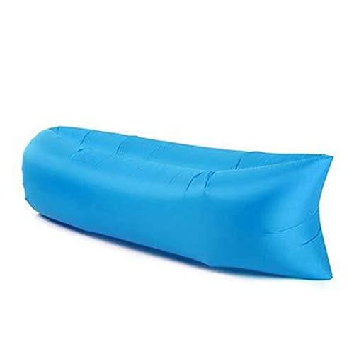 Kettles Tumbona Inflable Sofá de Aire Hamaca Portátil Portable Aves de Aire Diseño de Fugas Anti Air - Sofá Ideal para Fiestas de Playa de Viaje al Aire Libre Picicales de Picnic (Color : Blue)