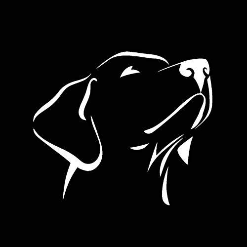 WADMY Aufkleber 14 cm * 12 cm Labrador Retriever Wasserdicht Vinyl Auto Aufkleber Verkratzt Shelter Schwarz/Silber Abdeckung Kratzer