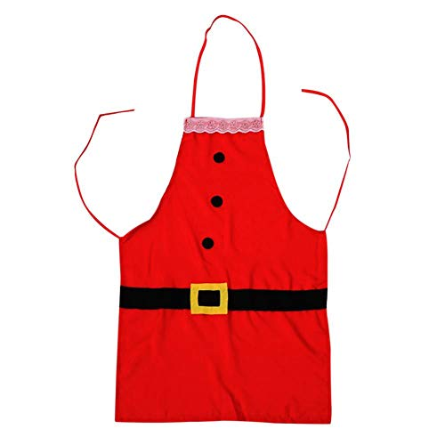 ANLUQIRIYON Grembiule Natalizio Costume di Babbo Natale con Cinturino Famiglia Cena Cucinare Cuocere Cuoco Grembiule Regalo di Natale Decorazione