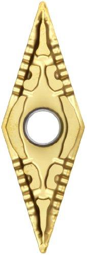 "Sandvik Coromant T-Max P Cermet Turning Insert, VNMG, 35 Degree Diamond, PF Chipbreaker, GC1525 Grade, TiCN Coating, VNMG 331-PF, 3/8"" iC, 0.0157"" Corner Radius (Pack of 10)"