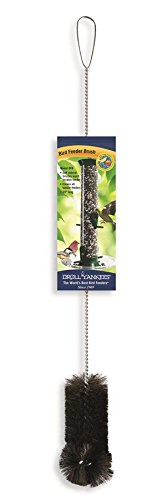 Droll Yankees 021964801007 BFB Bird Feeder Brush, 24 Inch, Black