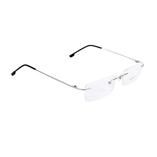 MagiDeal Moda Metallo Occhiali Senza Montatura Occhiali da Vista Frame Cornice Leggero