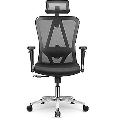 💗 【9 Ajustes Universal】Las funciones ajustables de reposacabezas, respaldo, reposabrazos y cojín hacen que la función de silla oficina ergonómica deje de ser monótona. 90 °-110° - 126 °tres ángulos de bloqueo del respaldo hacen que su trabajo sea más...