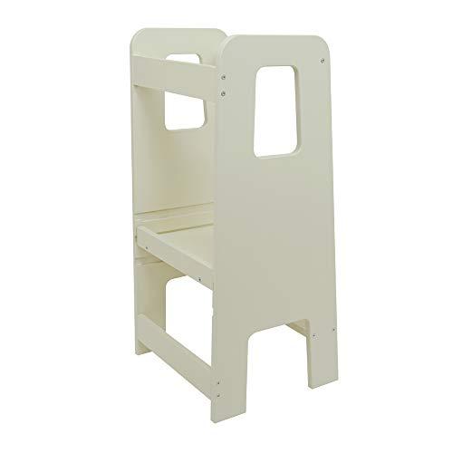 ully One by moblì® blanco elegante| Torre de Aprendizaje antimanchas hecha en Italia | Diseñada por educadores especializados en el método Montessori | Torre de aprendizaje con estantes regulables