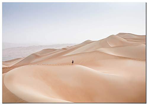Panorama Póster Desierto Rub al Khali Abu Dhabi 70x50cm - Impreso en Papel 250gr - Póster Pared - Láminas para Enmarcar - Cuadros Decoración Salón - Pósters Decorativos - Cuadros Modernos