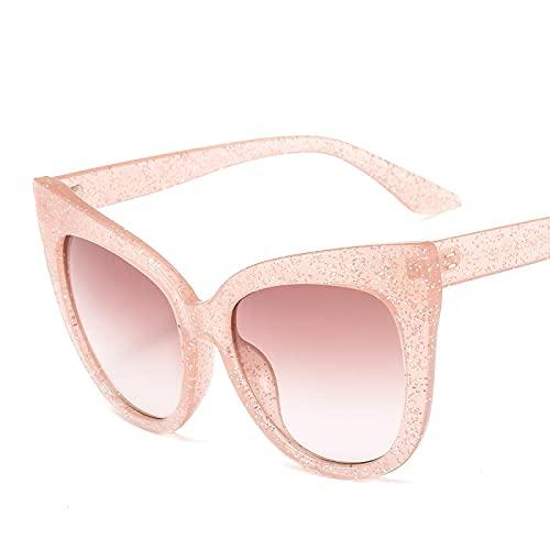 Astemdhj Gafas de Sol Sunglasses Montura De Gafas De Ojo De Gato para Mujer, Montura Grande De Diseñador, Montura De Gafas para Hombres, Gafas De Sol Transparentes, Lente TransparAnti-UV