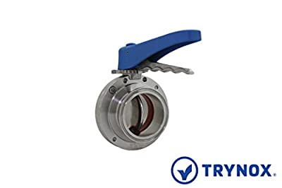 """Trynox Clamp Sanitary Stainless Steel Butterfly Valve Viton Seal 316L 2.5"""" Tri clamp Sanitary Fitting by Trynox"""