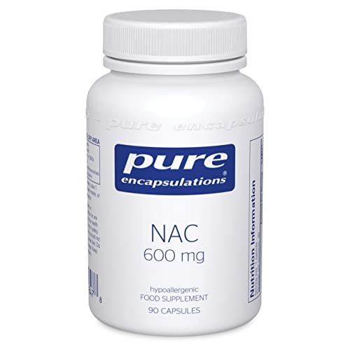 Pure Encapsulations - NAC 600mg - Professional Strength N-Acetyl-L-Cysteine - 90 Capsules