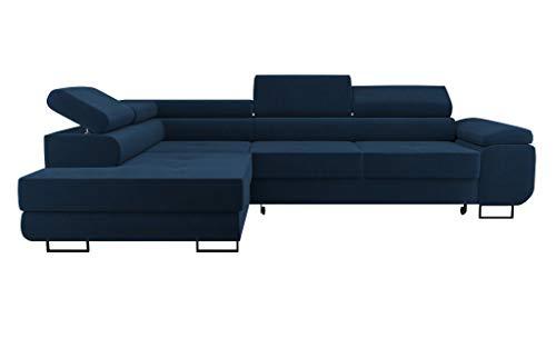 NEXT COLLECTION Ecksofa Sofa WILD mit Schlaffunktion und Bettkasten L Form Kopfteilverstellung Modern