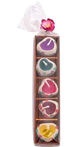 Mini-Herz-Duftkerze und Keramik-Kerzenhalter, tolles Geschenk zu Weihnachten, Geburtstag, Jahrestag oder Valentinstag, Set of 1 Tray