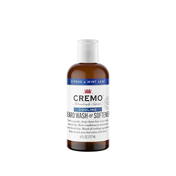 Cremo Citrus Mint Leaf 2n1 Cooling Beard and Face Wash, Specifically Designed to Clean Coarse Facial Hair, 6 Oz 1