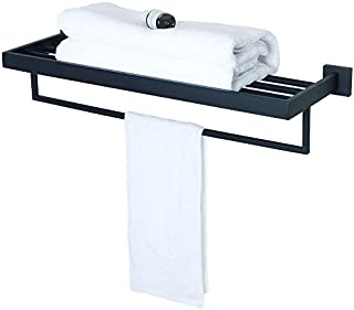 Alise GA7215B Bathroom Towel Rack/Rail Holder Towel Shelf Hanger Wall Mount,SUS 304 Stainless Steel Matte Black