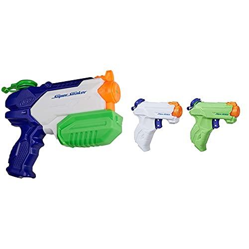 Hasbro Pistola ad acqua a spruzzo Super Soaker ZipFire, confezione da 2 pezzi & Nerf Super Soaker Pistola ad acqua Microburst 2, A9461EU8