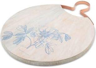 صينية طاولة تقديم خشبية بلون أبيض وأزرق من ثيرستيستون