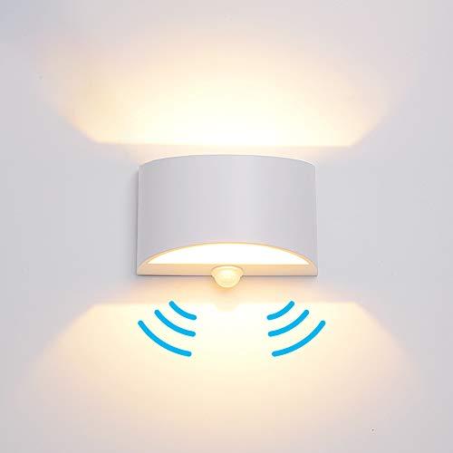 LED Motion Sensor Light,Indoor Hallway Wall Sconces,White Wall Lighting,5W 85-265V Aluminum (Warm Light)