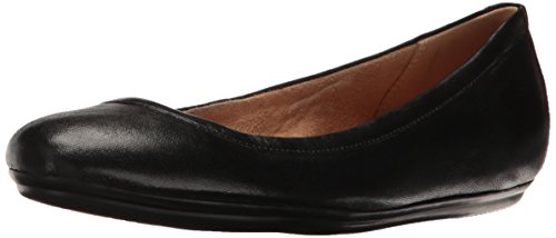 Naturalizer Women's Brittany Ballet Flat, Black, 8 W US
