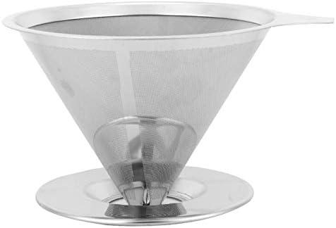 Koffiezeef giet over koffiedruppelaar herbruikbare milieuvriendelijke Vvorm voor koffie Thee zetten Koffieextractie