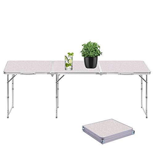 Sunreal Mesa Plegable portátil 1,82 m Ajustable Plegable