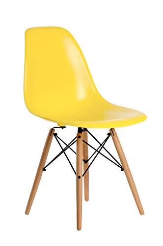 Aryana Home ARYASAM017 – Chaise, réplique de Eames, Bois 54x46,5x82 Citronier