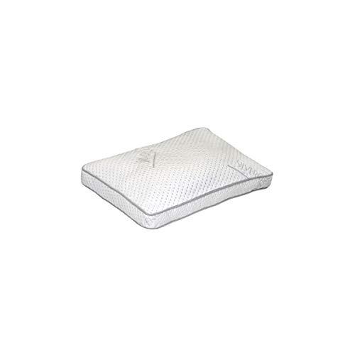 DORMIPUR Oreiller mousse a mémoire de forme Carat Luxe confort soft 40x60 cm blanc