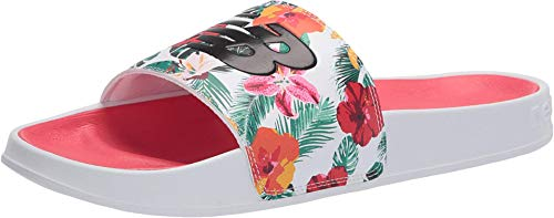 New Balance Women's 200 V1 Slide Sandal, Floral/White, 9 M US