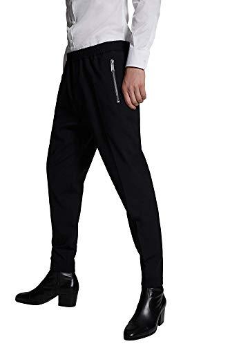 DSQUARED2 joggingbroek van koude wol met logo achter spiegeleffect S74KB0405S40320 kleur zwart