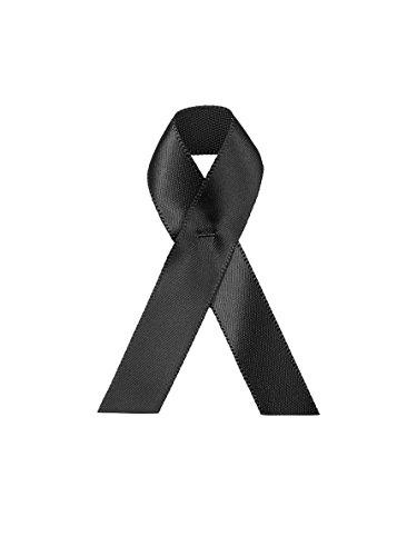 50 Trauer bzw. Kondolenz Schleifen, um Beileidsbekundung bzw. Trauer zu zeigen