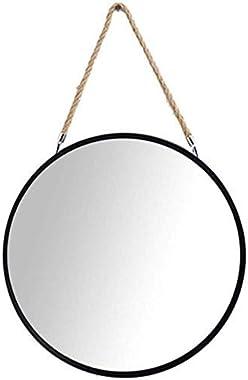 PYROJEWEL Mise à Maquillage Miroir Moderne Mirror Miroir Corde de Chanvre Suspendu Maquillage/miroirs cosmétiques Vanité, Cha