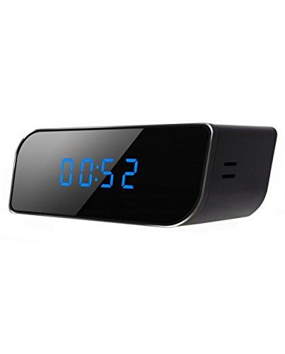 Comprare Web 2015WIFI - Cámara de vídeovigilancia (espía, HD, Wi-Fi, detección, visión nocturna, 1280 x 720, despertador, reloj)